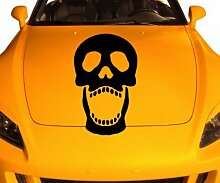 Autoaufkleber Schädel Monster Tod Sticker Skull Halloween Aufkleber Auto 5O109, Farbe:Lindgrün glanz;Hohe:90cm