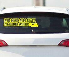 Autoaufkleber Shocker Aufkleber selber Schuld Design Auto Bike Sticker 2H410, Farbe:Lavendel glanz;Breite vom Motiv:100cm