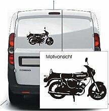 Autoaufkleber - Simson S51 - Moped - Motorrad (640