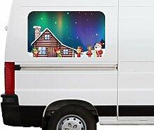 Autoaufkleber Weihnachten Elfen Fabrik