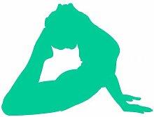 Autoaufkleber Yoga Bhujangasana Aufkleber in 8 Größen und 25 Farben (60x45cm türkis)