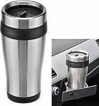 Autobecher - Thermobecher - Kaffeebecher - Reisebecher Doppelwand 450ml