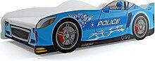Autobett CARS blau 160x80cm mit Matratze und