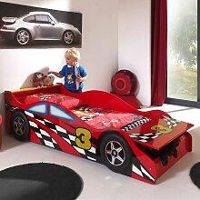 Autobett in Rot Rennwagen