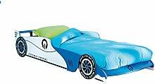 Autobett Leon mit Rollrost 14 Latten Blau 90 * 200