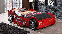 Autobett rot, 90x200 cm, rot