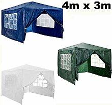 Autofather 4 x 3 m Garten-Pavillon Festzelt mit 4