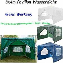Autofather Pavillon Wasserdicht 3x4m Grün