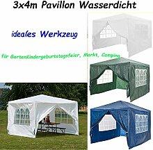 Autofather Pavillon Wasserdicht 3x4m Weiß