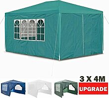 Autofather Pavillon Wasserdicht Gartenpavillon 3x4