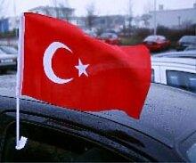 Autoflagge Türkei Autofahne