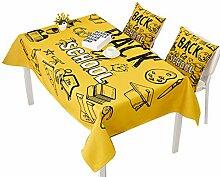 AUTOP Cartoon-Tischdecke Schule Rundes Tuch