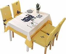 AUTOP Einfache Tischdecke Kat Rechteckig