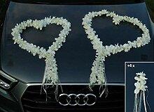 Autoschmuck ORCHIDEEN Herzen Braut Paar Rose Deko