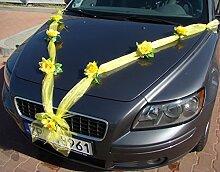 Autoschmuck Organza M Auto Schmuck Braut Paar Rose