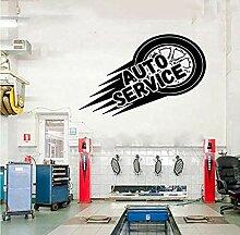 Autoservice Wand Vinyl Aufkleber Reifen Reparatur