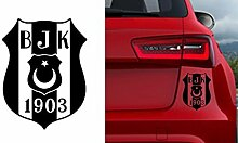 Autosticker Auto Sticker Macbook Wandtattoo Wand Aufkleber BJK Besiktas Kartal Istanbul (ca 11x10cm, Silber)