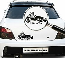 Autotattoo Baby on Wunschname on Tour Rennfahrer Bobby Car Rotbraun (Dunkelrot) MITTEL