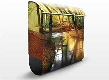 Autumn Fairytale 39x46x13cm Briefkasten, Standbriefkasten, Briefkästen, natur, herbst, wald
