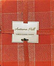 Autumn Hill Tischdecke aus Stoff, Herbst Orange
