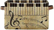 AUUXVA Ombra Aufbewahrungskorb Vintage Musik Note