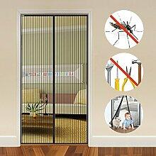 Auxent Magnet Fliegengitter Tür Insektenschutz Balkontür 100x220cm, Magnetvorhang für Terrassentür, Kellertür und Wohnzimmer, Kinderleichte Klebemontage Ohne Bohren (max. Türmaße 96x218cm)