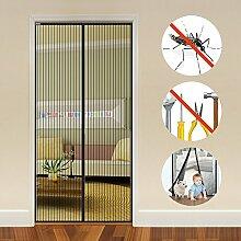 Auxent Magnet Fliegengitter Tür Insektenschutz Balkontür 90x210cm, Magnetvorhang für Terrassentür, Kellertür und Wohnzimmer, Kinderleichte Klebemontage Ohne Bohren (max. Türmaße 92x212cm)
