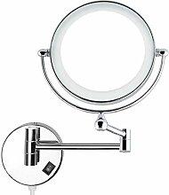 Auxmir Kosmetikspiegel mit LED Beleuchtung und 1-/
