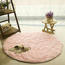availcx Shaggy Seide Wolle Runde Teppich für Wohnzimmer Kinderzimmer und Schlafzimmer