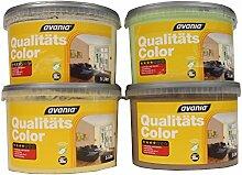 Avania Bunte Wandfarbe Qualitätscolor konservierungsmittelhaltig matt 5 Liter Farbwahl, Farbe:Cappucino