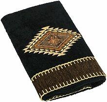 Avanti Linens 17722BLK Mojave Handtuch, schwarz