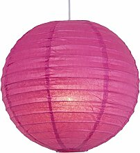 AVANTI TRENDSTORE - Hängeleuchte-Papierlampe, Farbe pink
