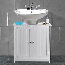 AVC Designs Weiß Badezimmer unter Waschbecken