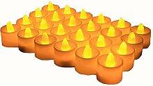 AVEKI Teelichter, Flammenlose Kerze 24Stück