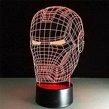 Avengers Superheld Iron Man 3D LED