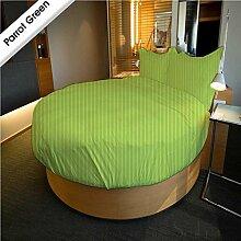 AVI Betten Vertriebs Fadenzahl 600rund Bett 66cm Deep Pocket Sheet Set 243,8cm Dia Meter 100% ägyptische Baumwolle Parrot Green massiv 600-tc