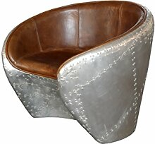 Aviator Lounge Chair Leder braun Sessel rund