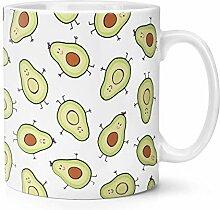 Avocado Muster 10oz Becher Tasse