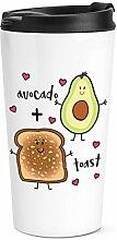 Avocado Plus Toast Reise Becher Tasse