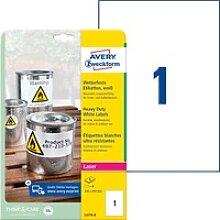 AVZ L4775-8 - Folien-Etiketten, wasserfest, 210 x