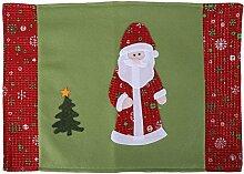 Awakingdemi Tischsets, Weihnachten Tisch Matte Tisch-Sets Isolierung Pad Untersetzer Weihnachten Dekoration Santa Claus