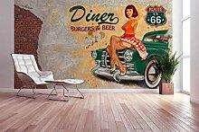 awallo Fototapete – Motiv «American Diner» in