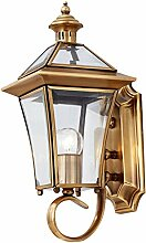 AWAMA Kupfer Wandleuchte Aussenleuchte Handwerk Wand Lampe Nachttischlampe D16*H37 CM für Wohnzimmer Flur Schlafzimmer Badezimmer Flur Babyroom
