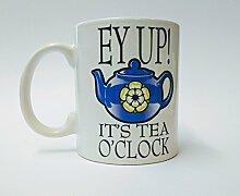 awanheart Yorkshire Becher, Keramik, Blau/Weiß,