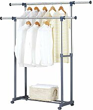 AWCPP Kleiderständer, versenkbare Doppelstange