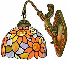 AWCVB Wandleuchte Kreative Tiffany-Buntglas