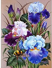 AWDIJF 5D Diamant Malerei Stickerei Blumenbild Von