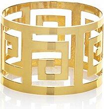 AWEI Serviette-Halter-Westdinner-Tuch-Serviette-Ring-Partei-Dekoration-Tabellen-Dekoration, 1 er Set, Gold