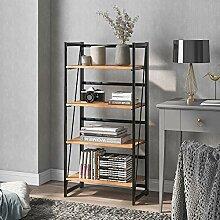 AWQM Standregal im Industrie-Design Bücherregal,