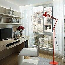 AWSDR® Stehleuchten Floor Lamps Indoor Light Led Faltbar Einstellbare Gestickte Schönheit Licht Einfache Moderne Schlafzimmer Wohnzimmer Tischleuchten Vertikale Dekoration Bodenleuchten , Red , 12W